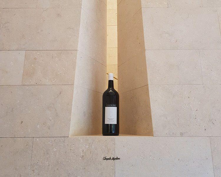 Dettaglio bottiglia di vino di prestigio