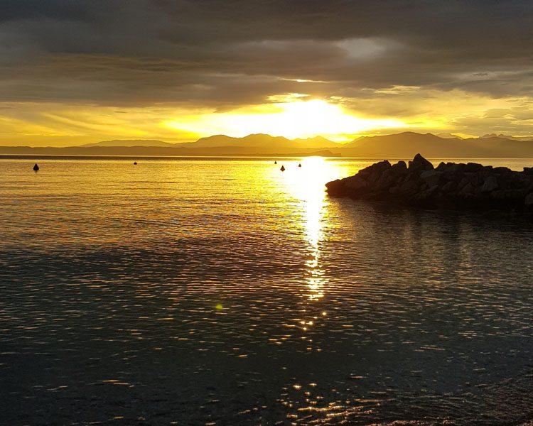 tramonto al lago di Garda